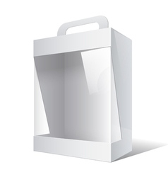 Package Cardboard Box with a handle vector image vector image