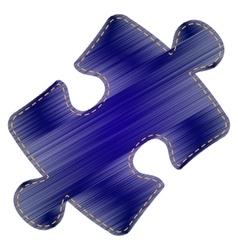 Puzzle piece sign vector