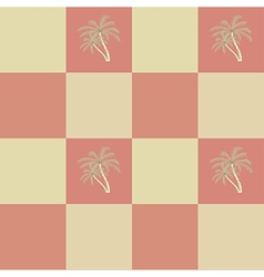 Retro seamless coconut palm trees pattern vector image vector image