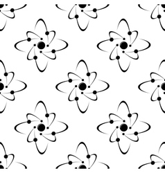 Seamless pattern of molecules vector image vector image