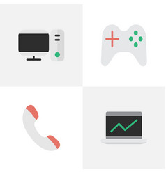 Set of simple gadget icons vector