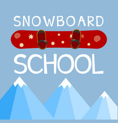 Snowboarding school logo emblem design element vector