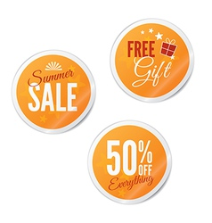 Summer sale retail stickers vector image vector image