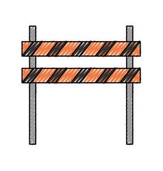 Trafic barrier vector