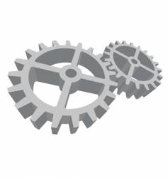 two gears connected vector image