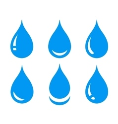 water drops set vector image vector image