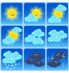Weather Forecast Icons vector image