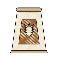 wheat flour isolated vector image