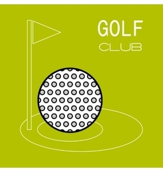 Golf ball hole for game flat color icon sports vector