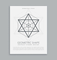 Spiritual sacred geometry shape vector