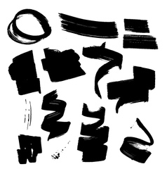 Ink brush element set2 vector