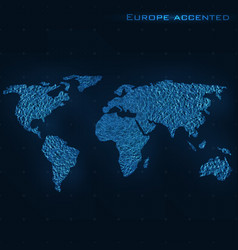 World abstract map europe accented vector