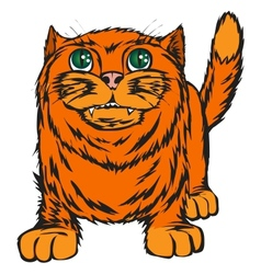 Big red cat vector
