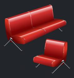 Sofa and chair vector
