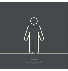 Human male sign icon vector