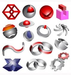 abstract 3d vector logos vector image