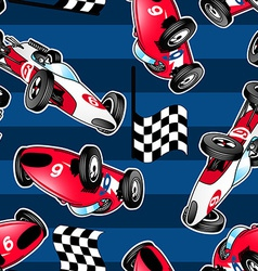 Racing cars with blue stripes vector