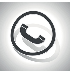 Curved call sign icon vector