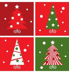Winter christmas trees vector