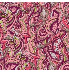 Floral paisley colorful ornate seamless pat vector
