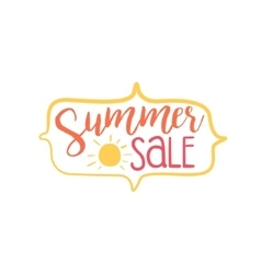 Summer discount colorful ad vector