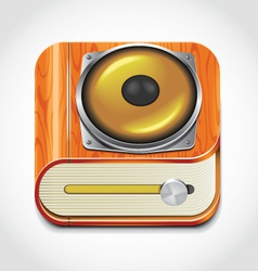 Audio book icon vector