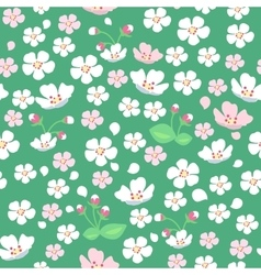 Apple Tree Flowers Seamless Pattern vector image vector image