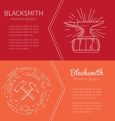 Banner blacksmith vector