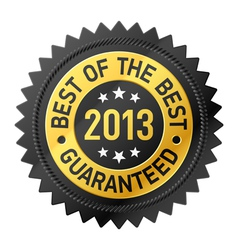 Best of the Best 2013 label vector image vector image