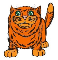 Big red cat vector image vector image