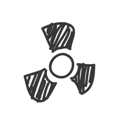 Biohazard icon sketch and science design vector