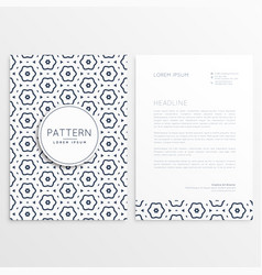 Business letterhead design with pattern background vector