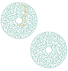 circular labyrinth with an answer puzzle vector image vector image