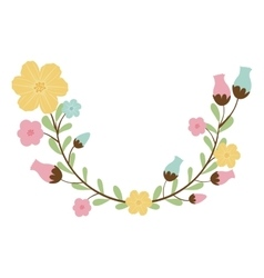 Colorful decorative half arch with flowerbud vector