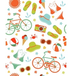 Colorful summer leisure pattern vector