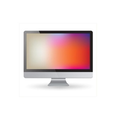 Computer display isolated on white vector image vector image