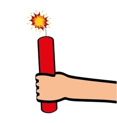 dynamite comic isolated icon vector image