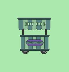 Fast food hot dog cart and street hot dog cart vector