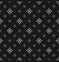 geometric texture with tiny rhombuses dark vector image vector image