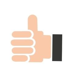Hand human like social media vector
