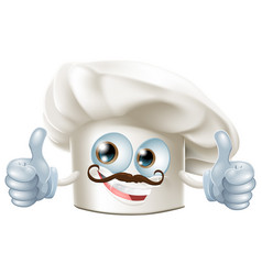 happy cartoon chef character vector image vector image