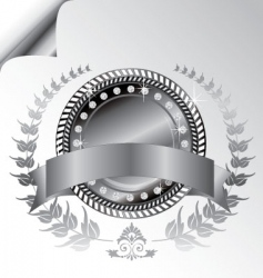 laurel wreath medallion vector image