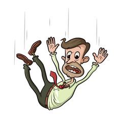 Man falling down vector