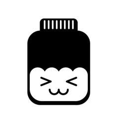 Mason jar bottle kawaii character vector