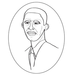 Obama portrait vector