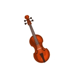 Realistic Classic Violin vector image vector image