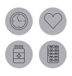 Round icon health vector