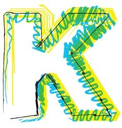 Sketch font Letter K vector image vector image