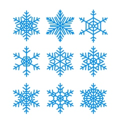 Snowflakes set pack of snowflakes design templates vector image vector image