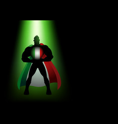 superhero standing under the green light vector image vector image